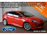 DEC 2013 Ford Focus 1.0 (125ps) EcoBoost TURBO Zetec S-BLUETOOTH-DAB-FORD S/H