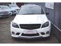2010 Mercedes-Benz C Class C63 Saloon 6.2V8 457 AMG 7GT Petrol white Automatic