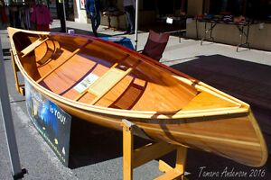 Never before touched water new cedar strip canoe. $3000 obo
