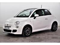 2014 Fiat 500 S Petrol white Manual