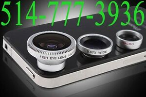 3 in 1 Wide Macro +180°Fish Eye Lens for iPhone 5S 5 4S iPad3