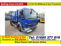 2008 - 57 - DAF LF 45.220 4X2 10TON AUTO GEESINK BODY REFUSE (GUIDE PRICE)