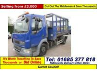 2006 - 06 - DAF LF 45.150 AUTO 4X2 7.5TON CAGED TIPPER (GUIDE PRICE)
