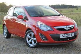 2012/12 Vauxhall Corsa 1.2i 16v SXi, Red, 19k Miles, FSH