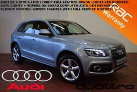 2011 Audi Q5 2.0TDI (170ps) quattro S Line-XENONS-LED'S-FULL LEATHER-F.S.H.