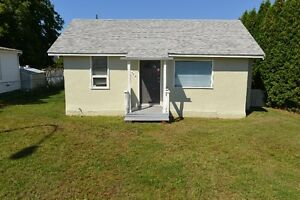 Small but cute and newly updated house with large fenced yard