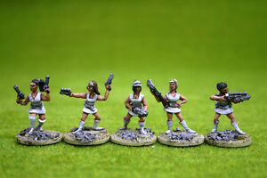 FEMALE SCI FI FIGHTERS pack of 5 figures Trent Miniatures 28mm