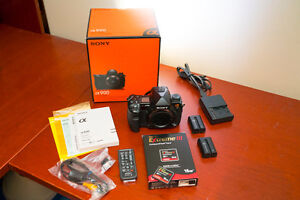 Sony A900 camera body, 2 batteries, remote, charger, memory card