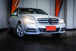 2013 Mercedes-Benz C-Class W204 MY13 C200 7G-Tronic + Silver & Chrome 7 Speed Sports Automatic Sedan