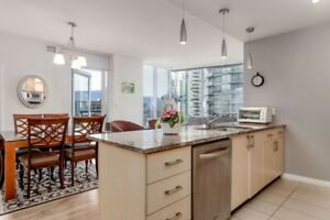 Coal Harbour Furnished Luxury 3 BR, 3 Bath and Solarium