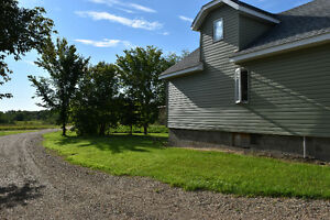 Gorgeous 15 lots in Leask with One & a Half Storey Home on it!