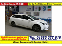 2012 - 12 - TOYOTA AVENSIS TR 2.0D-4D 5 DOOR ESTATE (GUIDE PRICE)