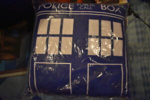 Brand New Doctor Who Police Box pillow