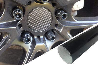 4x Alufelgen Felgen Naben Deckel Design Folie Schwarz Glanz für viele Fahrzeuge