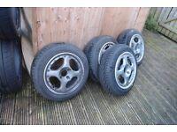 SSR MKII jdm split rims 14x5.5 4x100 virtually new tyres