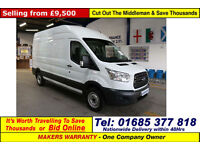 2014 - 14 - FORD TRANSIT T350 2.2TDCI 100PS LWB HIGH-TOP L3 H3 VAN (GUIDE PRICE)