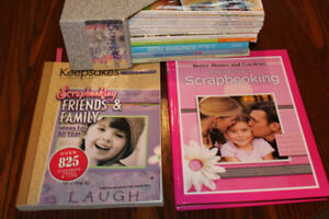 Scrapbooking  books magazines, $ 10 for everything