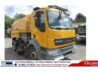 2012 - 61 - DAF LF 55.220 4X2 15TON JOHNSON 650 SWEEPER (GUIDE PRICE)
