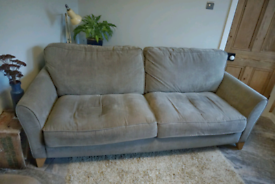 Sofa 4 seat large grey mink excellent condition settee
