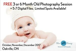 FREE 3 or 6 Month Baby Photography Session + Digital Files