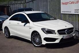 2014 Mercedes-Benz CLA CLA45 Coupe 4Dr 4MATIC 2.0 360 SS AMG 7G-DCT Petrol white