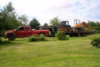 Mini-Excavator, Skid Steer, Trailer, Dodge 1 ton