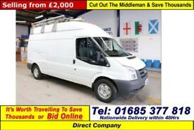 2008 - 58 - FORD TRANSIT T350 2.4TDCI 115PS RWD LWB HIGH-TOP VAN (GUIDE PRICE)