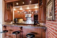 Armoires et comptoir, cuisine complète, électros