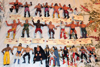 Set of Collectible WWE wrestling figures