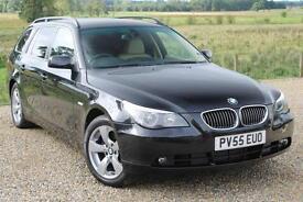 05/55 BMW 530d SE Touring Auto, 12 Services, Black with Full Dakota Leather