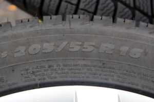 Winter Tires with rims and wheel covers