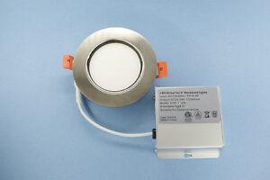 4 INCH RECESSED LED LIGHTING, 9W BRUSH TRIM WARM WHITE 2700K