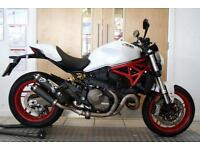 2015 Ducati Monster 821 White 824 Miles 1 Owner Termignoni Exhaust