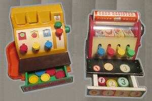 Fisher-Price vintage cash registers