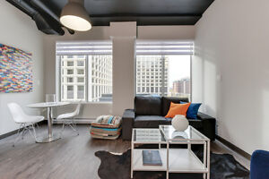 1 Bed Fully Furnished All-Inclusive Downtown Condo - LRT Access
