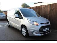 Ford Transit Connect 1.6TDCi 115PS 240 L2 LWB Limited in Silver + Dual Zone A/C