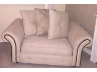 Used Cream DFS Snuggle Chair