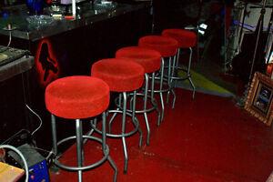 5x Bancs, tabourets de bar ou comptoir cuisine vintage retro Saint-Hyacinthe Québec image 2