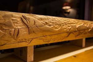 Hand-Carved Fireplace Mantels by Spirt Bear Carving and Woodwork