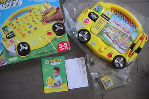 """LeapFrog """"My First LeapPad"""" Lot - Yellow Schoolbus - with 1 Book"""