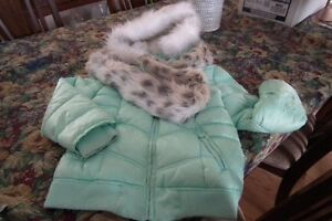 4 items of girls size 8 clothing coat, pants, tops