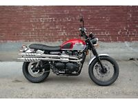 Triumph scrambler original exhaust new unused