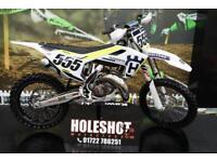 2017 HUSQVARNA TC 125 MOTOCROSS BIKE PRO TAPER BARS, NEW FRONT TYRE