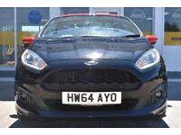 BAD CREDIT CAR FINANCE AVAILABLE 2015 64 FORD FIESTA 1.0 ZETEC S BLACK EDITION