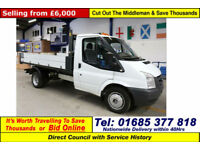 2009 - 59 - FORD TRANSIT T350 2.4TDCI 100PS RWD SINGLE CAB TIPPER (GUIDE PRICE)