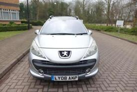 SOLD NOW 2008 Peugeot 207 SW 1.6 VTi 120 Outdoor Right hand drive PX To Clear