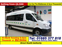 2010 - 10 - MERCEDES SPRINTER 316 2.2 CDI AUTO WILKER PTS MINIBUS (GUIDE PRICE)