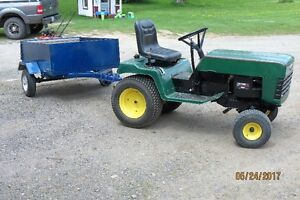 Lawn tractor and Utility Trailor