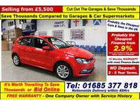 2014 - 64 - VOLKSWAGEN POLO SE 1.4TDI BLUEMOTION 5 DOOR HATCHBACK (GUIDE PRICE)