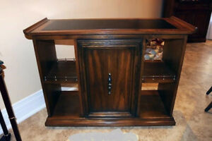 Peppler wood finish sideboard/cabinet